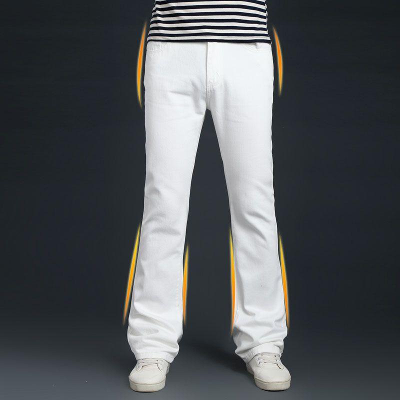 Mens-Flared-Jeans-Men-New-2017-Autumn-Fashion-Denim-Pants-Men-Boot-Cut-Jeans-Hommes-White_