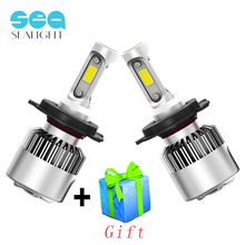 SEALIGHT H7 LED H4 LED H11 H8 H9 H1 9006 HB4 Car Light Headlight Bulb COB Auto Lamp 6500K 12V 72W 8000LM High Low Beam Headlamp