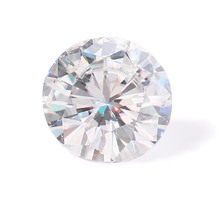 Lab grown diamond 5.0mm 0.5ct F Color round brilliant cut moissanites loose stone beads for jewelry making retail price