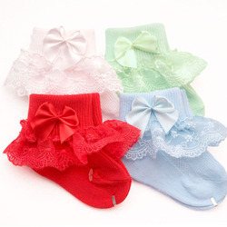 Носки для девочек, с бантиком