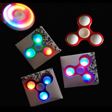 Buy QWZ New LED Light Fidget Spinner Finger ABS EDC Hand Spinner Tri Kids Autism ADHD Anxiety Stress Relief Focus Handspinner for $1.50 in AliExpress store