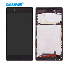 For Sony Xperia Z5 E6603 E6633 E6653 E6683 LCD Touch Screen Digitizer Replacement Assembly Parts With Frame