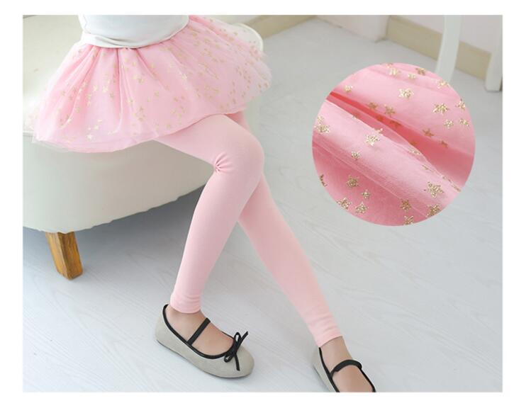 Spring Autumn 18 New Girls Leggings Girls Skirt-Pants Kid Pants Fashion Cake Skirt Girl kids Leggings Trousers Leggings Pants 12