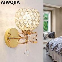 AC100-240V modern crystal wall lamp bedside lamp Creative Arts Bedroom Living Room wall sconces arandela E14 lamparas de pared