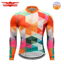 Buy Crossrider Funny Winter Men Fleece Thermal Pro Cycling Jersey long Bike wear Ropa Roupa De Ciclismo Invierno Hombre Mtb Clothing for $20.48 in AliExpress store