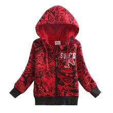 2016 NOVA new design cotton children boys coat autumn winter outcoat red long sleeve boy coat clothes fashion hooded boys coats
