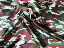 camouflage Charmeuse clothing Material Army Green Camo Satin Print Fabric 100*120cm