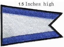 "ICS Pennant Group Flag embroidery patch 1.5""high shipping/regular pattern/community falg/Twill fabrics(China)"