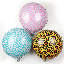 10pcs 18 inch Safari Animal Print Leopard zebra Spots Foil balloons,self sealing Helium balloon,kid's toy Globos.(China)
