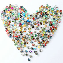 10pcs/lot 12mm Cartoon Snap Buttons Many Styles Plastic Buttons Jewelry fit Snap Bracelet NA12-011