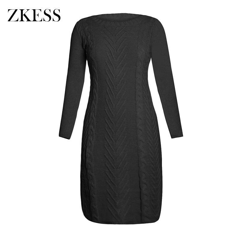 Black-Women-s-Hand-Knitted-Sweater-Dress-LC27772-2-2