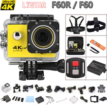 "Remote Action camera F60 / F60R Allwinner V3 4K / 30fps WiFi 2.0"" 170D go Helmet Cam pro underwater waterproof Sport camera DVR"