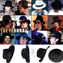 The Best Fedora Black Wool Retro Hat of Michael Jackson for MJ fans with Name Formal Gentry(China)
