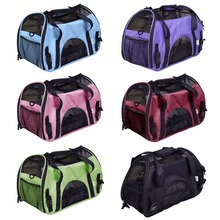 portable dog bag for small dogs Folding Mesh Breathable pet carrier bag carry for dogs cats Inner Fleece Pad Zipped Doors(China)