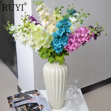 Artificial of the European long sticks of large feather grass set fake flowers living room floor silk flower decoration