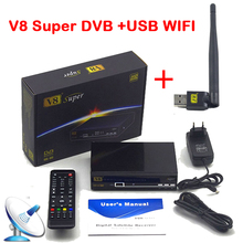 freesat V8 Super HD Satellite Receiver FTA DVB-S2 tv receptor 1080P support Biss Key newcam cccam 3G IPTV Youporn with USB WIFI