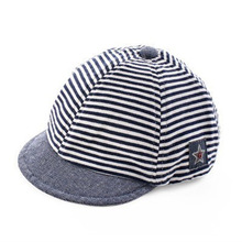 Summer Cotton Comfortable Infant Hats Cute Casual Striped Soft Eaves Baseball Cap Baby Boy  Baby Girls Sun Hat