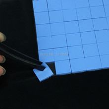 72 Pieces Lot Mini 15 x 15x 1.5mm IC Chip Xbox PS PC VGA Chipset  Heatsink Radiator Silicone Blue Thermal Pad