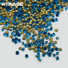 SS6-SS20 Blue Zircon Color Glass Point Back Rhinestones Nail Art Strass Crystal For Jewelry Crafts Dress Decoration 1440 pcs(China)