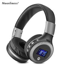 Buy Moonliness HiFi Bass Stereo Headphones B19 Bluetooth Wireless Headphone MicTF Slot Radio LCD Display Music Headphone for $19.50 in AliExpress store