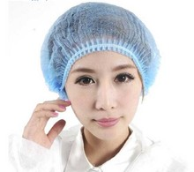 DHL BEST Hot Sale 1000 PCS Disposable Hair Shower Cap Non Woven Pleated Anti Dust Hat Hotel Salon suppliesSet Blue Free Shipping(China)