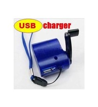 500pcs/lot USB Hand Power Dynamo Torch Hand Crank USB CellPhone Emergency Charger for mobile phone mp3/4(China)
