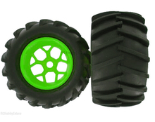 83005 Green Wheel  1/8 Scale For Radio Remote Control Nitro RC Truck