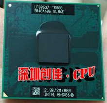 Intel Core 2 Duo T5800 2.0GHz 2M 800 Dual Notebook processors Laptop CPU Socket P 478 pin Computer Original(China)