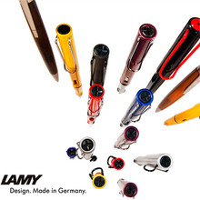 1pc/lot Lamy Roller Ball Pen Safari 11 Colors Black/Blue/Yellow/Red/Pink Silver Clip Canetas Roller Pen Wholesales 16.6*1.4cm