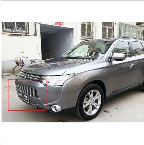 Free shipping,High quality stainless steel Front Grille Around Trim Racing Grills Trim For 2013 -14 Mitsubishi Outlander Samurai<br><br>Aliexpress