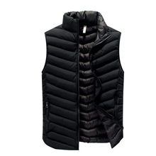 2017 newest men autumn waistcoat solid color sleeveless winter jacket 3 colors M-3XL AYG353(China)