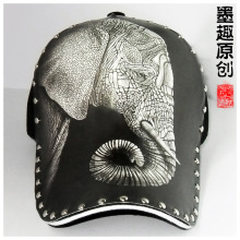 Baseball cap that female general character illustration elephant sketch design hat fashion new spring and summer cycling cap