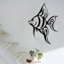 DCTOP Piece Tropical Fish Wall Decal Living Room Hollow Out Decorative Sea Animal Vinyl Wall Sticker