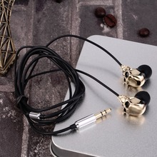 Newest Cool Alternative Skull Wired Stereo Earbud In-Ear Earphones For MP3/4 Smartphone 3.5mm Wholesale