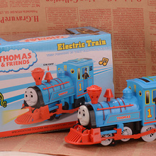 Wholesale Classic Electric Thomas Train With Light and Music Cheap Plasic Toys Vehicle Birthday Gift