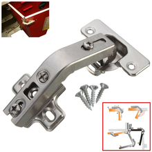 Top Quality 135 Degree Corner Folded Cabinet Door Hinges Kitchen Bathroom Cupboard Hinge 2 Holes For Home Tools(China)
