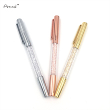 Hot sale Crystal Signature Pen Diamond Gold Silver Office Gift 3 Pcs Ball Point Pen(China)