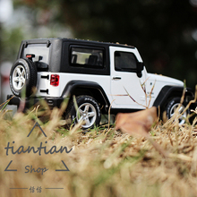 CAIPO 1:32 kids toys simulation Jeep Wrangler SUV  Die-cast metal Alloy car model Decoration Children like the gift