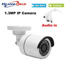 960P IP camera mini 1.3MP IP Camera outdoor waterproof audio Night Vision ONVIF CCTV Security Camera Network IP Cam ABS plastic