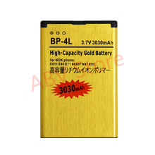 2017 New Golden bateria BP-4L BP4L Mobile Phone Battery for NOKIA E61i E63 E90 E95 E71 6650F N97 N810 E72 battery(China)