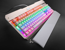 X7300 Corlorful Backlit Mechanical Gaming Keyboard with Palm Rest Anti-Ghosting Outemu Blue Switches English Layout