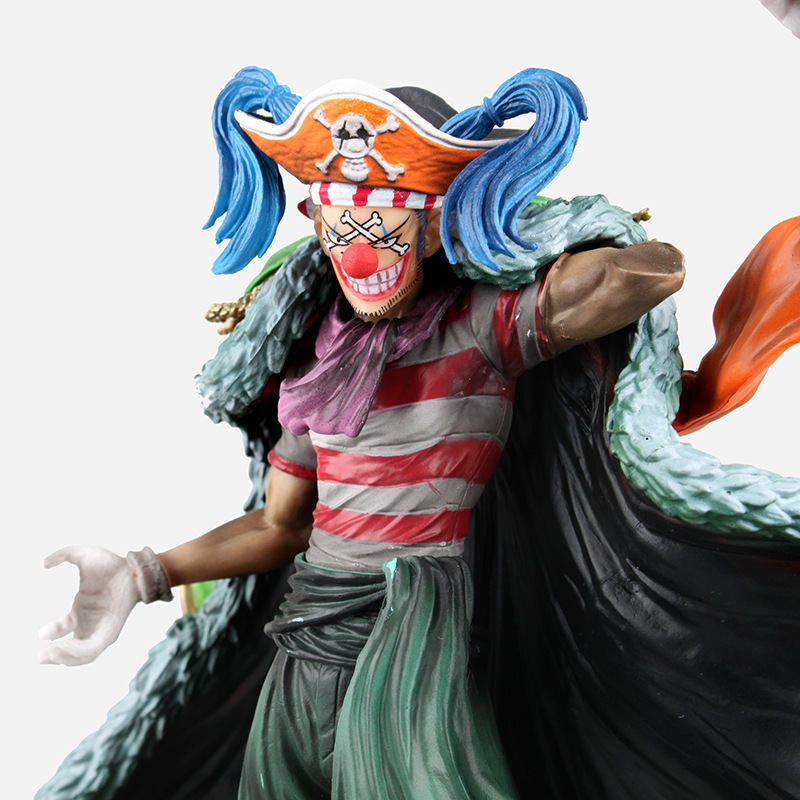 WVW 24CM Hot Sale Anime One Piece New World Buggy Model PVC Toy Action Figure Decoration For Collection Gift<br>