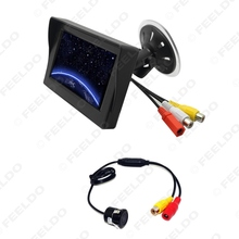 "4.3"" Digital Windshield LCD TFT Monitor With Reversing Backup Camera for Car Rear View System #FD-3863"