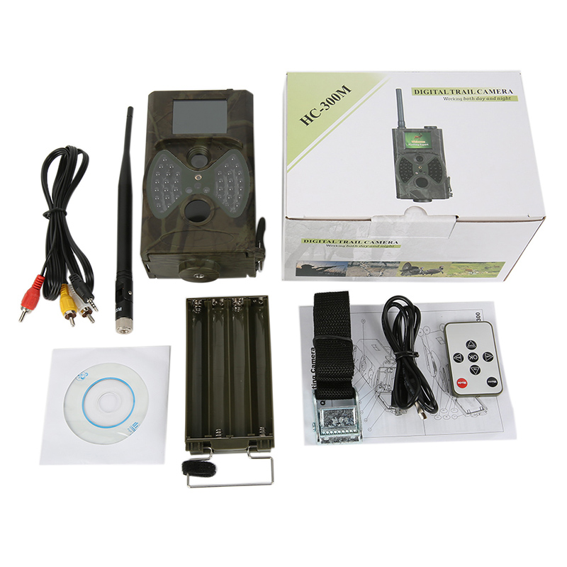 HC-300M Wild Hunting Camera Digital Security Camera Monitor HD MMS Function Detecting Camera with Night Vision Infrared LEDs