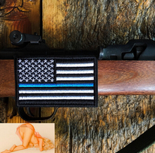 Tactical Police law enforcement Thin Blue Line United States US Flag Patch Hook and Loop BACK