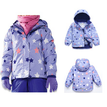 2017 Hot Sale Children Skiing Jackets Waterproof Hooded Snowboard Jacket Coat Thick Winter Outerwear Kids Baby Ski Suit Jackets