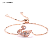 JUNESNOW 2017 New Arrival 4 Color Charms Bracelets For Women Fashion DIY Jewelry ZY00073 Swan Original Bracelet(China)