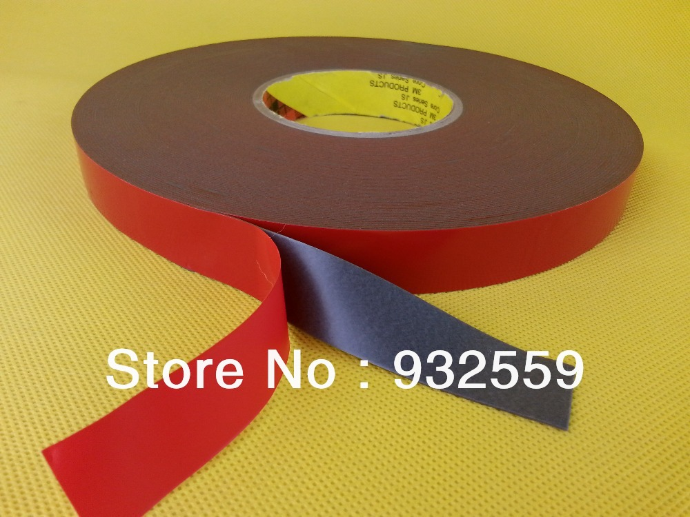 10mmX33M/roll 3M Acrylic Foam Tape GT6008 for automotive attachments grey 0.8mm thick  free shipping<br>