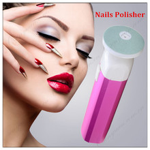 Nail Art Tools Foot Care Product Nail File Buffer For Salon Manicure Nails Polisher Foot Dead Skin Remover Pink Golden Color