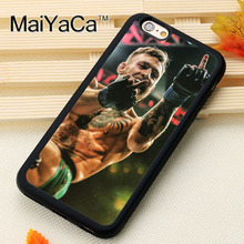 MaiYaCa Conor McGregor Irish Fighter Printed Soft Rubber Skin Mobile Phone Cases For iPhone 6 6S Plus 7 Plus 5 5S SE Back Cover
